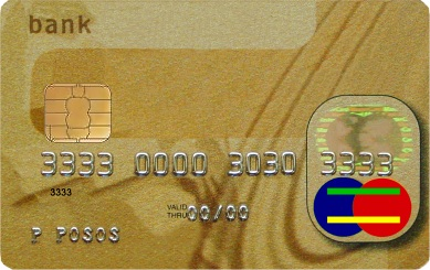 Actual size image of  Credit Card .